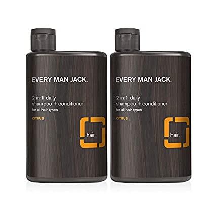 BỘ ĐÔI DẦU GỘI + KEM XÃ DÀNH CHO NAM EVERY MAN JACK 2-IN-1 SHAMPOO + CONDITIONER (DAILY CITRUS)
