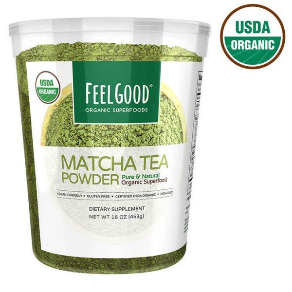 BỘT TRÀ MATCHA HỮU CƠ FEEL GOOD ORGANIC SUPERFOODS MATCHA TEA POWDER