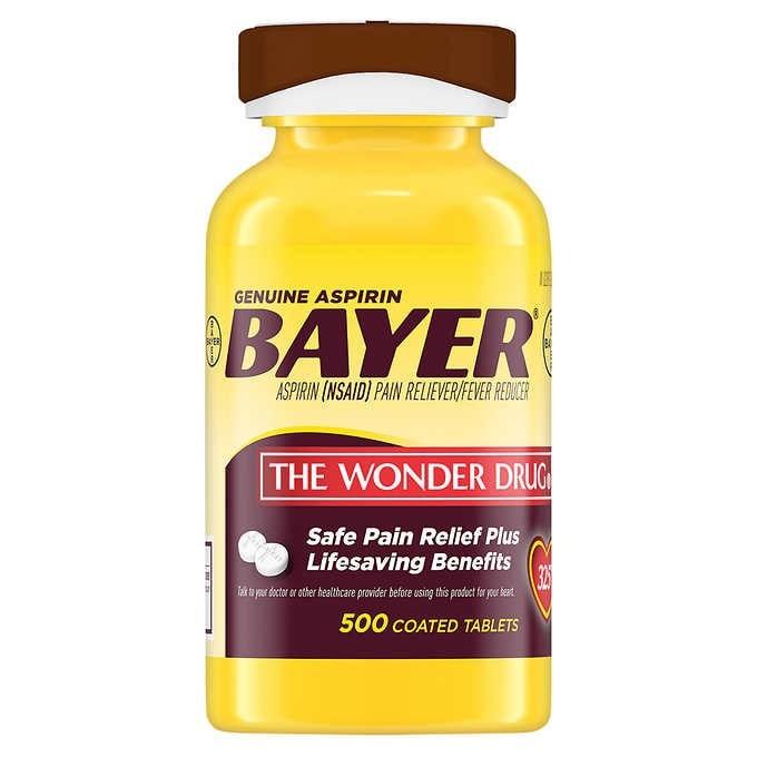 THUỐC GIẢM ĐAU BAYER GENUINE ASPIRIN THE WONDER DRUG 325 MG
