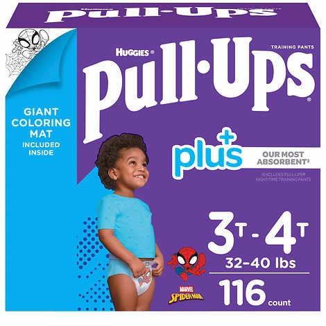TÃ QUẦN DÀNH CHO BÉ TRAI TỪ 15-18 KG HUGGIES PULL- UPS PLUS TRAINING PANTS FOR BOYS 3T-4T (32-40 LB/15-18 KG)