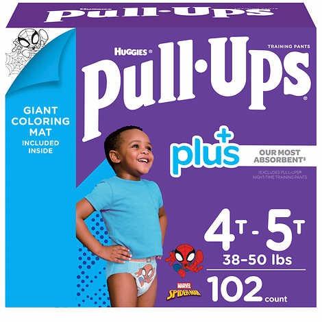 TÃ QUẦN DÀNH CHO BÉ TRAI TỪ 17-23 KG HUGGIES PULL- UPS PLUS TRAINING PANTS FOR BOYS 4T-5T (38-50 LB/17-23 KG)