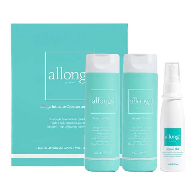 SET DUNG DỊCH VỆ SINH PHỤ NỮ ALLONGS INTIMATE CLEANSER & MIST SET