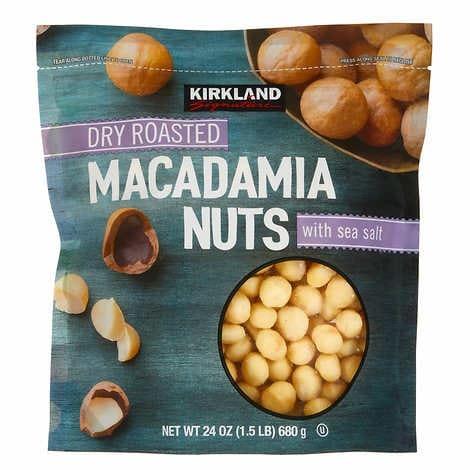 HẠT MẮC CA TÁCH VỎ RANG KHÔ KIRKLAND SIGNATURE DRY ROASTED MACADAMIA NUTS