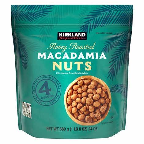 HẠT MẮC CA RANG MẬT ONG KIRKLAND SIGNATURE HONEY ROASTED MACADAMIA NUTS