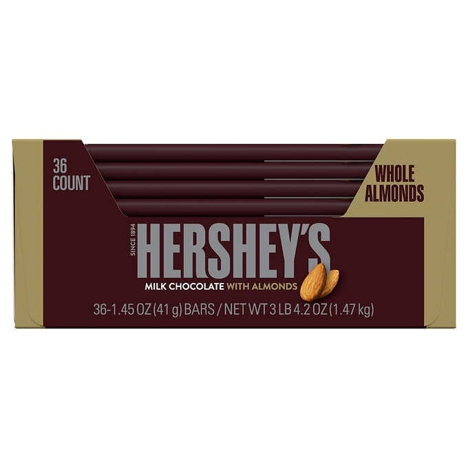 THANH SÔ-CÔ-LA SỮA HẠNH NHÂN HERSHEY'S MILK CHOCOLATE WITH ALMONDS