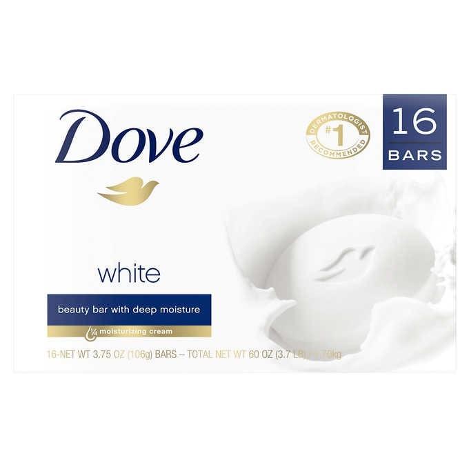 BÁNH XÀ BÔNG TẮM DƯỠNG ẨM DOVE MOISTURIZING BEAUTY BAR SOAP WHITE