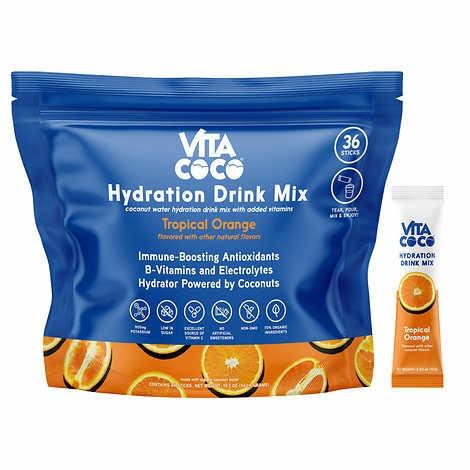 BỘT ĐIỆN GIẢI HƯƠNG CAM VITA COCO HYDRATION DRINK MIX, ORANGE