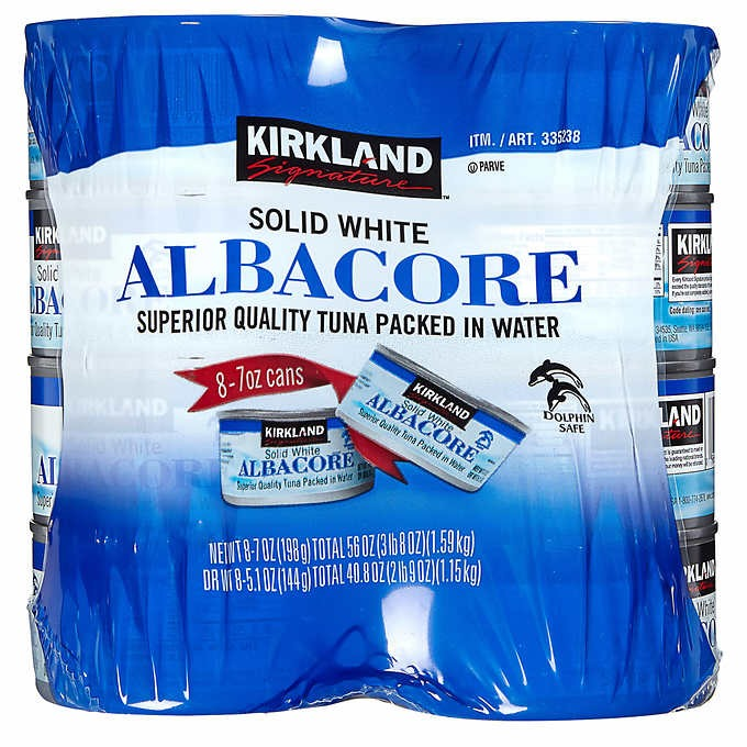 HỘP CÁ NGỪ TRẮNG KIKLAND SIGNATURE SOLID WHITE ALBACORE TUNA IN WATER
