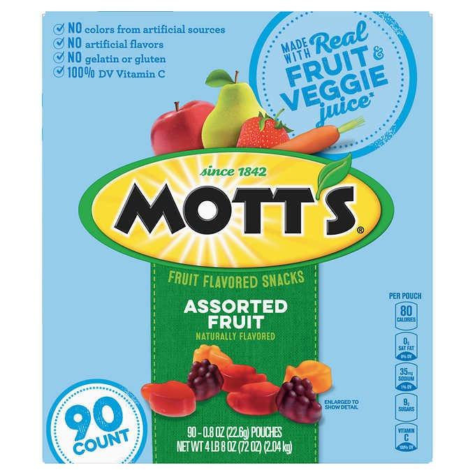 KẸO DẺO TRÁI CÂY MOTT'S FRUIT SNACKS, ASSORTED FRUIT