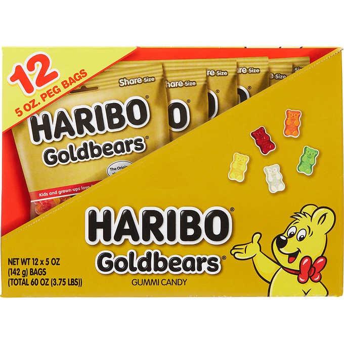 KẸO DẺO HÌNH GẤU HARIBO GOLDBEARS GUMMI CANDY