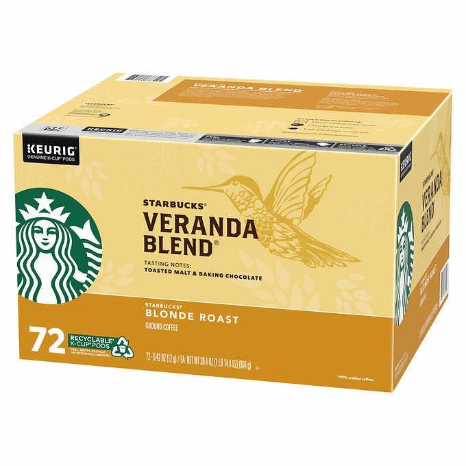 CÀ PHÊ DỊU NHẸ DẠNG CỐC STARBUCKS COFFEE VERANDA BLEND BLONDE ROAST K- CUP PODS