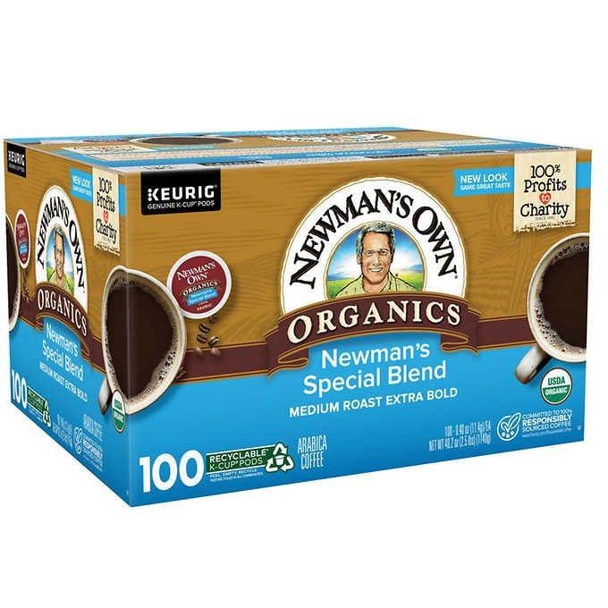 CÀ PHÊ RANG ĐẬM HỮU CƠ DẠNG CỐC NEWMAN'S OWN ORGANICS COFFEE SPECIAL BLEND K-CUP POD
