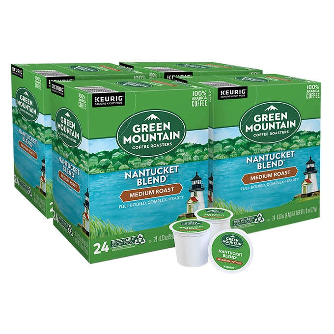 CÀ PHÊ ĐẶC BIỆT VỚI HƯƠNG VỊ PHONG PHÚ DẠNG CỐC GREEN MOUNTAIN COFFEE NANTUCKET BLEN K-CUP POD