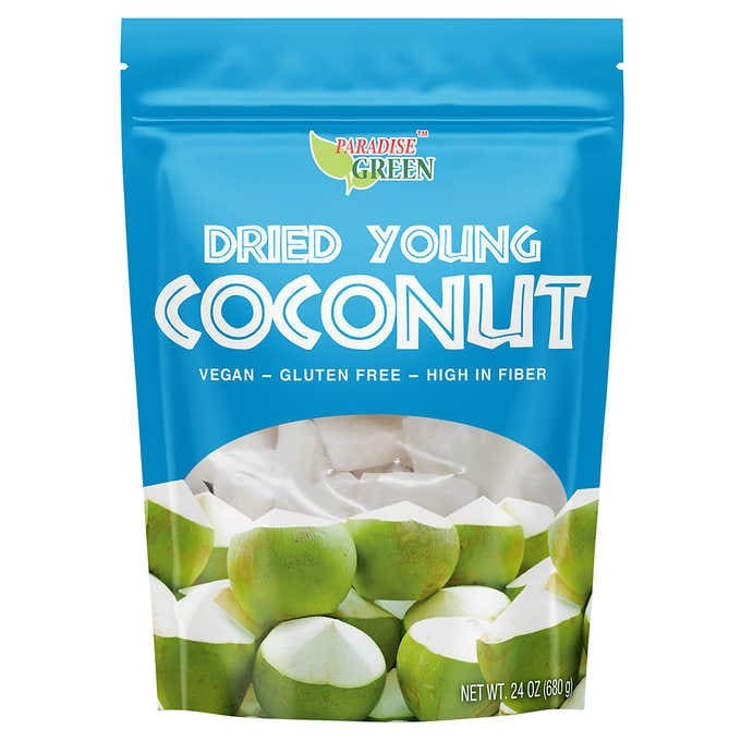 DỪA NON SẤY KHÔ PARADISE GREEN DRIED YOUNG COCONUT