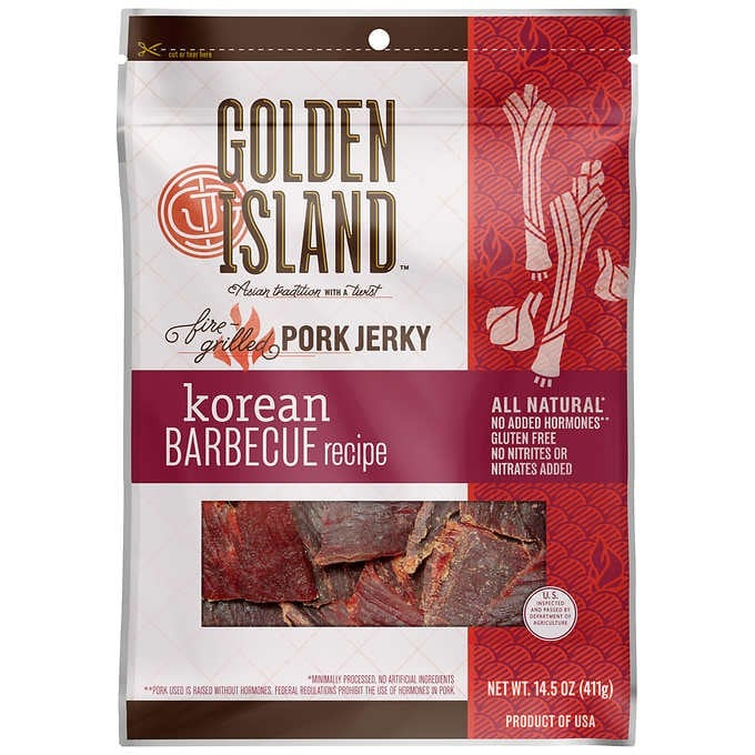 THỊT HEO KHÔ HÀN QUỐC GOLDEN ISLAND KOREAN BARBECUE PORK JERKY 411G
