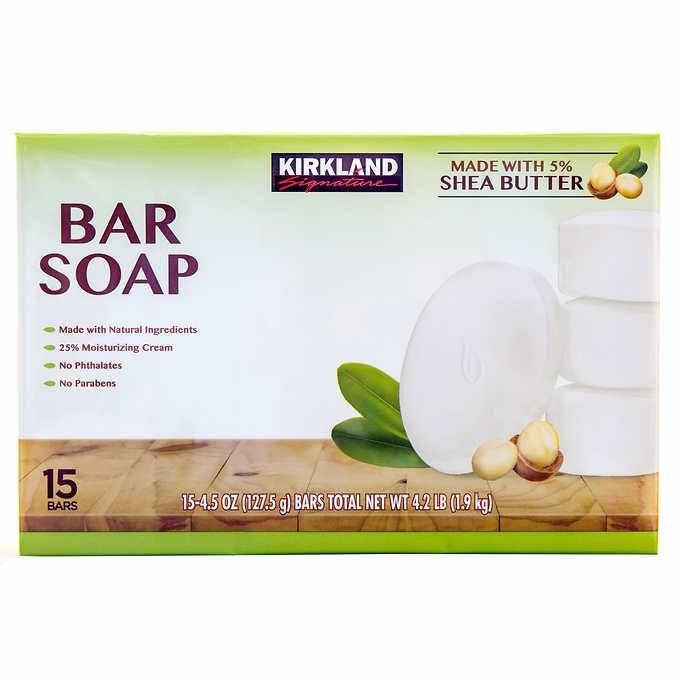 BÁNH XÀ BÔNG TẮM DƯỠNG ẨM TỰ NHIÊN KIRKLAND SIGNATURE BAR SOAP WITH SHEA BUTTER
