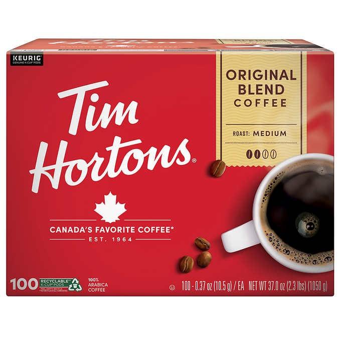 CÀ PHÊ RANG VỪA DẠNG CỐC TIM HORTONS COFFEE ORIGINAL BLEND K-CUP POD