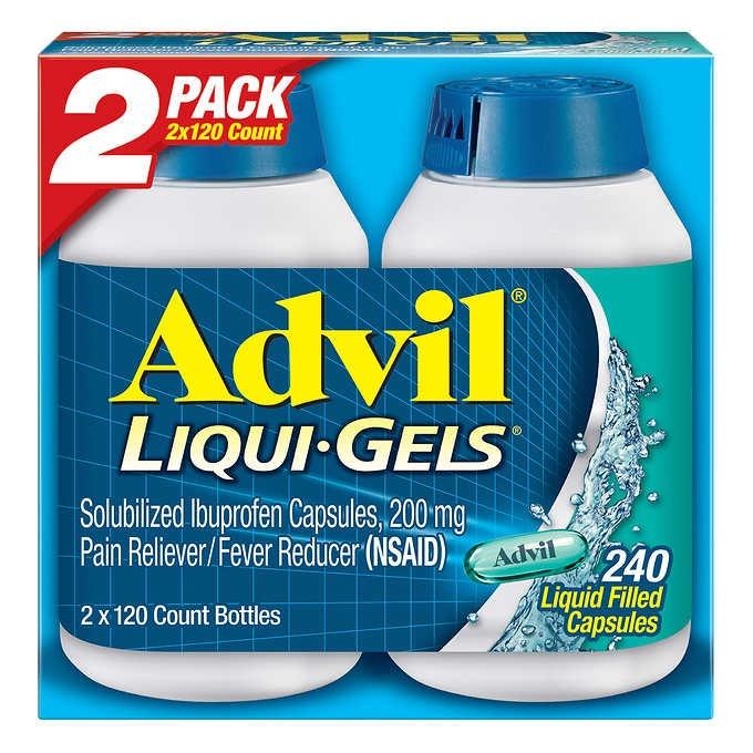 THUỐC GIẢM ĐAU HẠ SỐT ADVIL LIQUI-GELS IBUPROFEN 200 MG. PAIN RELIEVER / FEVER REDUCER