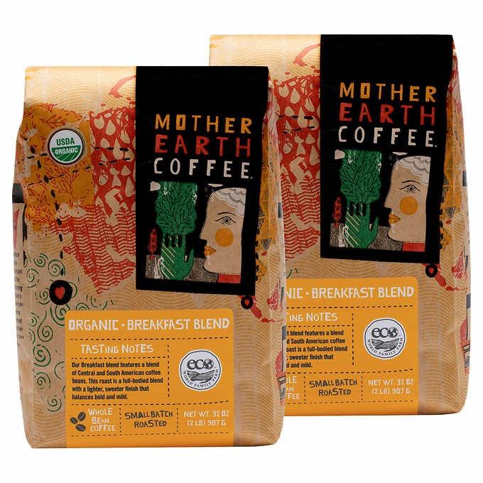CÀ PHÊ XAY NHUYỄN HỮU CƠ MOTHER EARTH COFFEE ORGANIC BREAKFAST BLEND