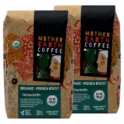 CÀ PHÊ RANG KIỂU PHÁP HỮU CƠ MOTHER EARTH COFFEE ORGANIC FRENCH ROAST
