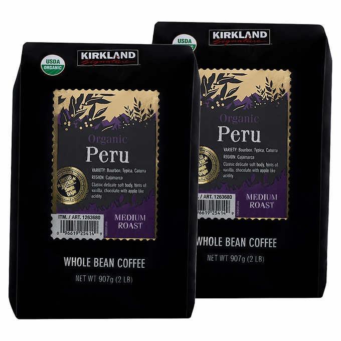 CÀ PHÊ NGUYÊN HẠT PERU HỮU CƠ KIRKLAND SIGNATURE ORGANIC PERU WHOLE BEAN COFFEE