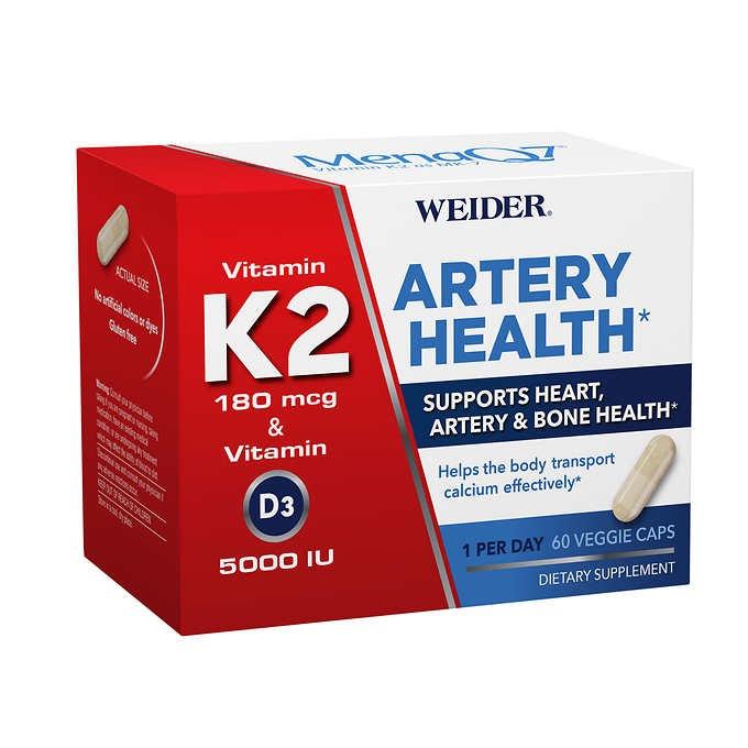 VIÊN UỐNG HỖ TRỢ SỨC KHỎE TIM, XƯƠNG VÀ ĐỘNG MẠCH WEIDER ARTERY HEALTH WITH VITAMIN K2
