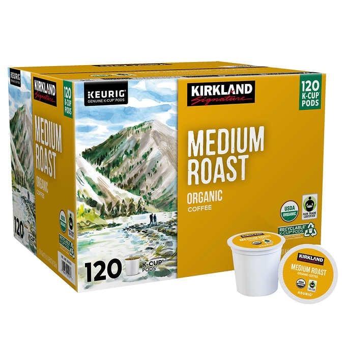 CÀ PHÊ RANG VỪA HỮU CƠ DẠNG CỐC KIRKLAND SIGNATURE COFFEE ORGANIC MEDIUM ROAST K-CUP POD