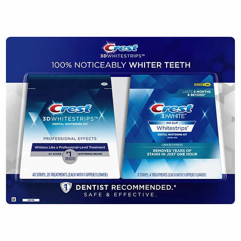 MIẾNG DÁN TRẮNG RĂNG CREST 3D WHITESTRIPS PROFESSIONAL EFFECTS TEETH WHITENING KIT