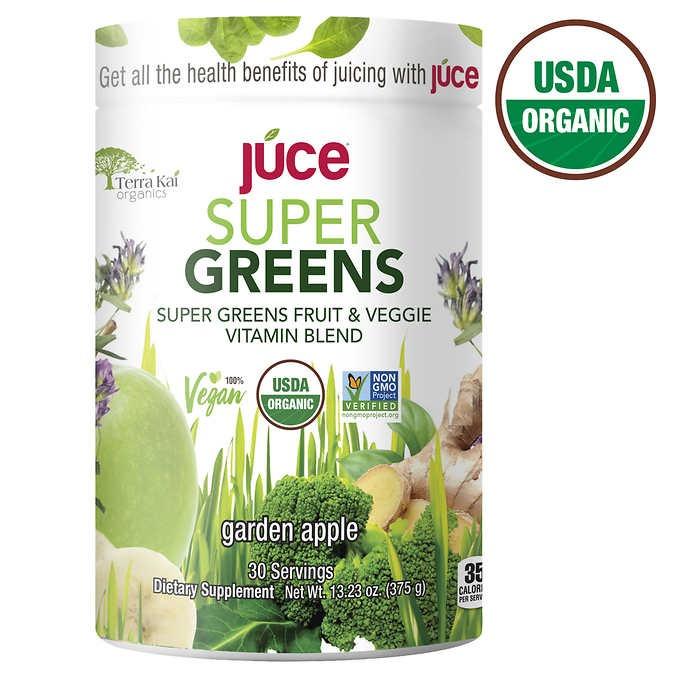 BỘT TRÁI CÂY, RAU CỦ XANH HỮU CƠ TERRA KAI USDA ORGANIC JUCE SUPER GREENS AND VEGGIE POWDER