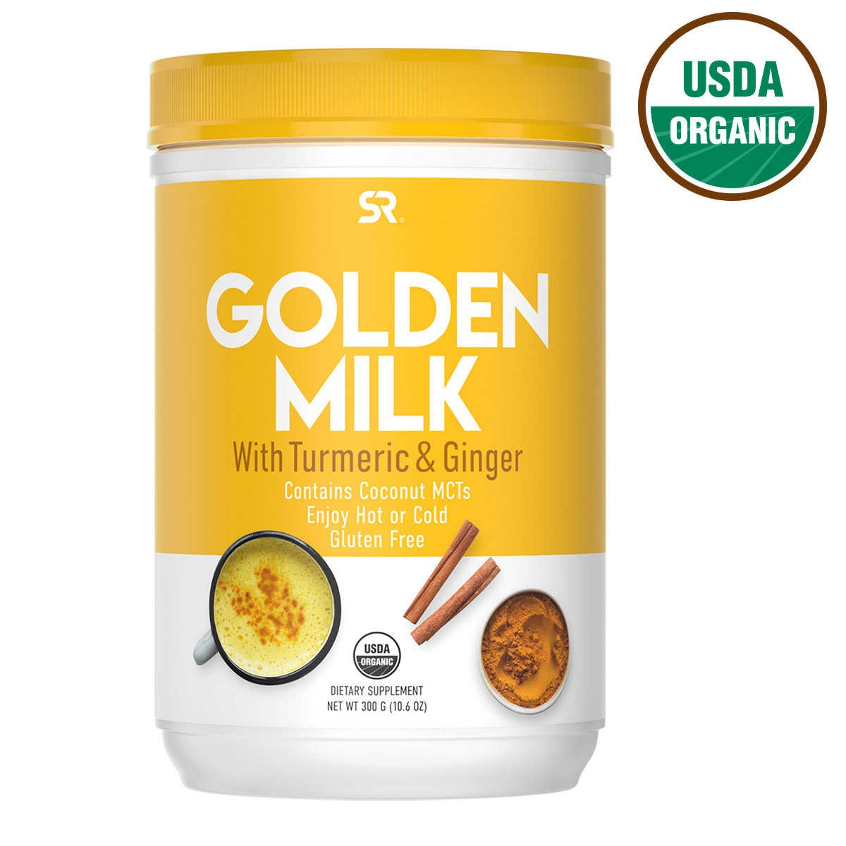 SỮA NGHỆ GỪNG HỮU CƠ SPORTS RESEARCH USDA ORGANIC GOLDEN MILK WITH TURMERIC AND GINGER POWDER