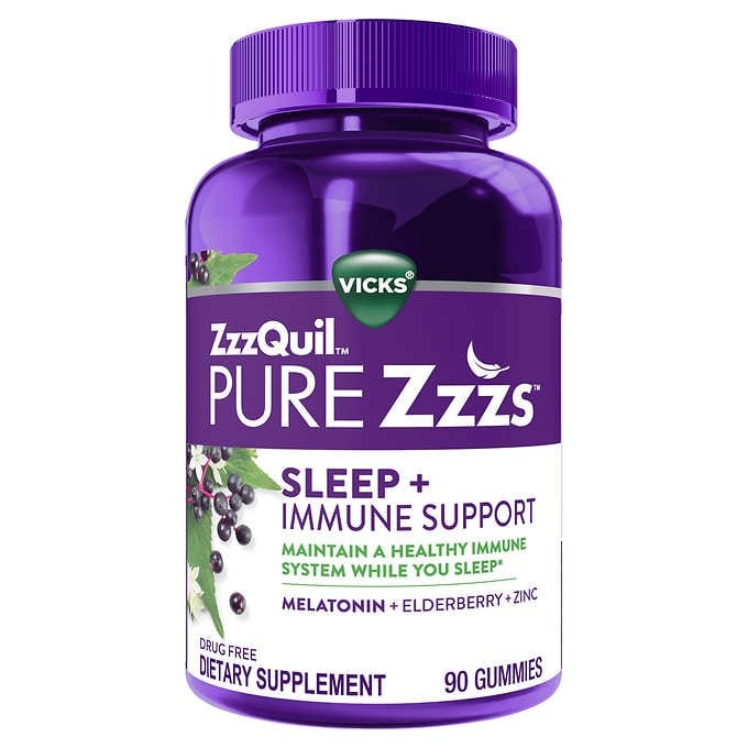 KẸO DẺO NGỦ NGON VICKS ZZZQUIL PURE ZZZS SLEEP + IMMUNE SUPPORT