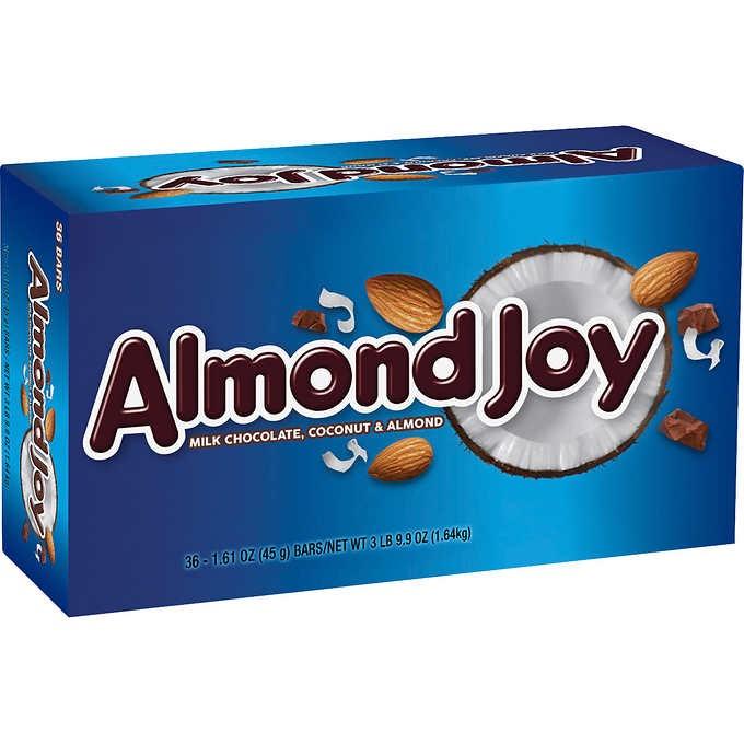 KẸO SOCOLA SỮA DỪA HẠNH NHÂN ALMOND JOY MILK CHOCOLATE, COCONUT & ALMOND CANDY BARS