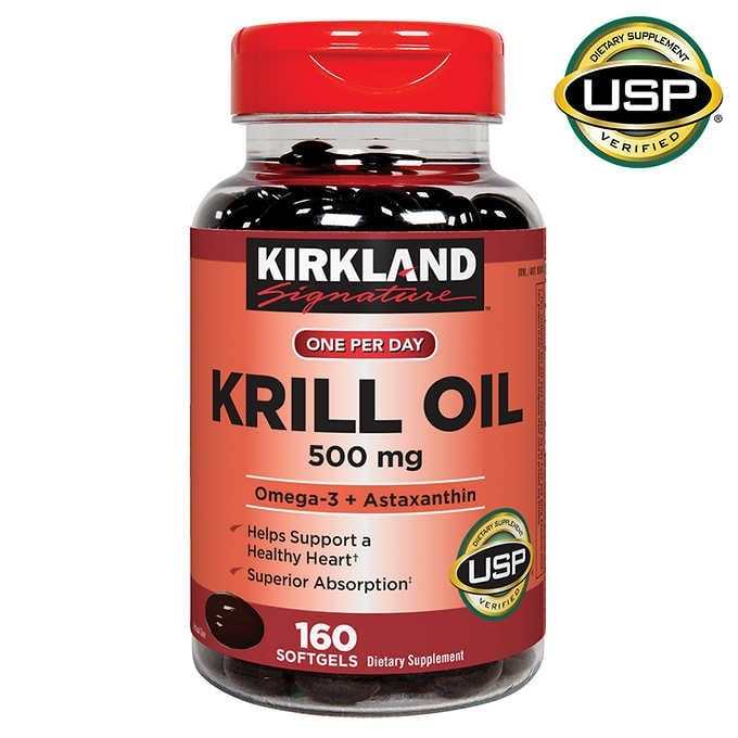 VIÊN UỐNG DẦU TÔM KIRKLAND SIGNATURE KRILL OIL 500 MG