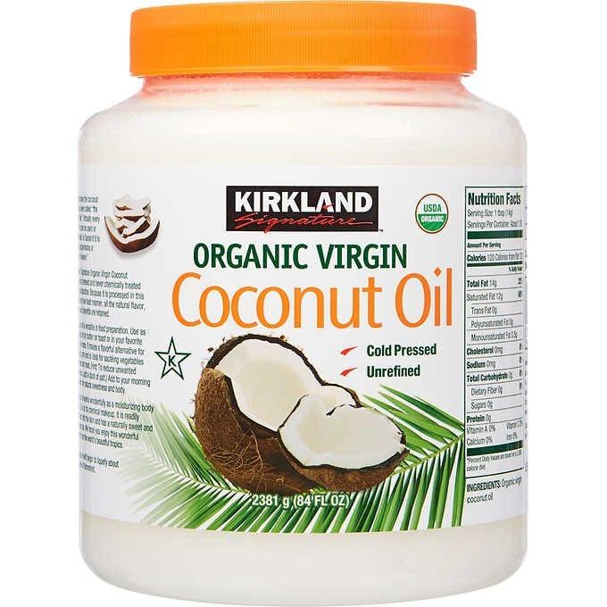 DẦU DỪA NGUYÊN CHẤT HỮU CƠ  KIRKLAND SIGNATURE ORGANIC VIRGIN COCONUT OIL