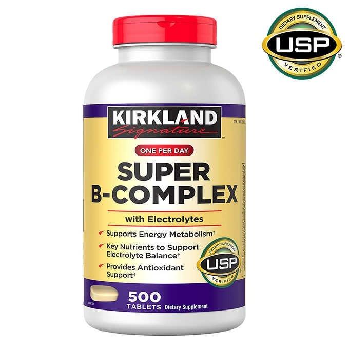 VIÊN UỐNG BỔ SUNG PHỨC HỢP VITAMIN B KIRKLAND SIGNATURE SUPER B-COMPLEX WITH ELECTROLYTES