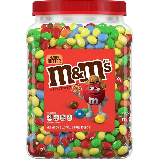 KẸO SÔ CÔ LA BƠ ĐẬU PHỘNG M&M'S CHOCOLATE CANDIES, PEANUT BUTTER