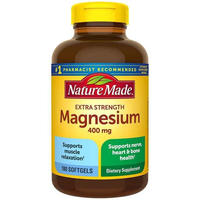 VIÊN UỐNG BỔ SUNG MAGIE NATURE MADE EXTRA STRENGTH MAGNESIUM 400 MG