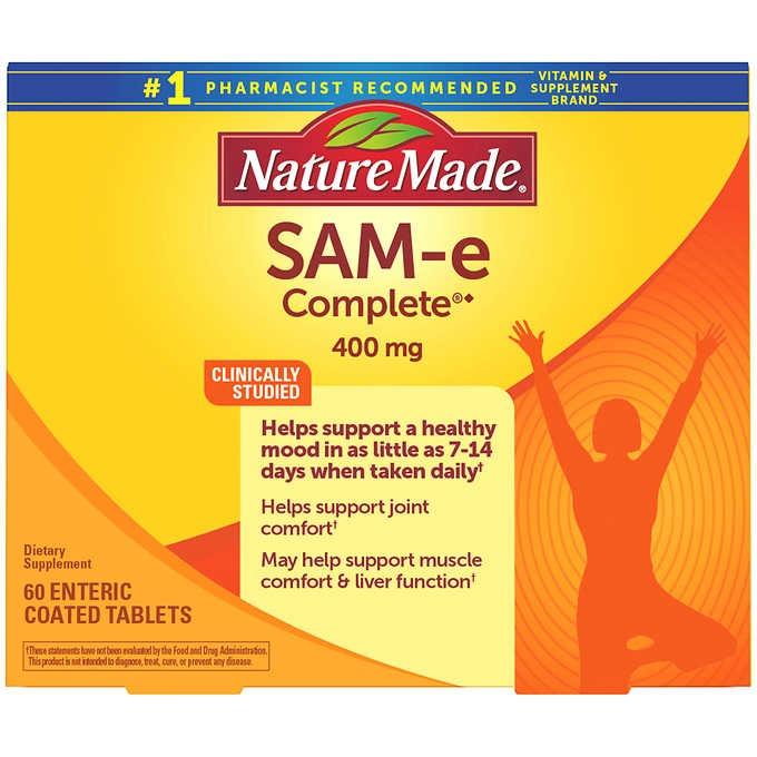 VIÊN UỐNG GIẢM STRESS, BỔ KHỚP NATURE MADE SAM-E COMPLETE 400 MG