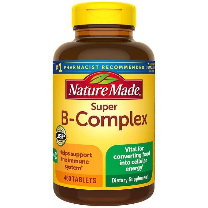 VIÊN UỐNG BỔ SUNG PHỨC HỢP VITAMIN B NATURE MADE SUPER B-COMPLEX