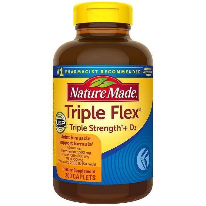 VIÊN UỐNG BỔ KHỚP NATURE MADE TRIPLEFLEX TRIPLE STRENGTH + D3