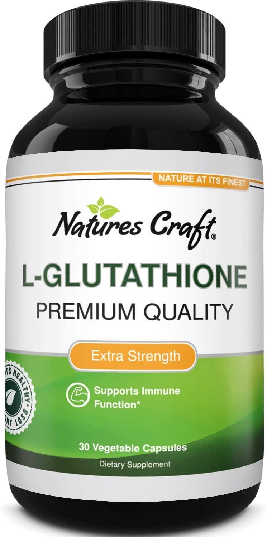 VIÊN UỐNG TRẮNG DA NATURES CRAFT L-GLUTHATHIONE PREMIUM QUALITY EXTRA STRENGTH