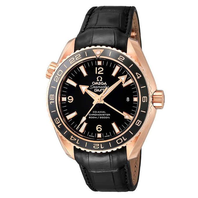 ĐỒNG HỒ NAM OMEGA SEAMASTER PLANET OCEAN GMT 18KT ROSE GOLD AUTOMATIC MEN'S WATCH