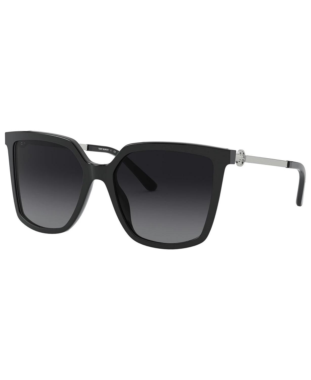 MẮT KÍNH NỮ TORY BURCH POLARIZED SUNGLASSES, TY7146 55, BLACK/GREY GRADIENT POLAR