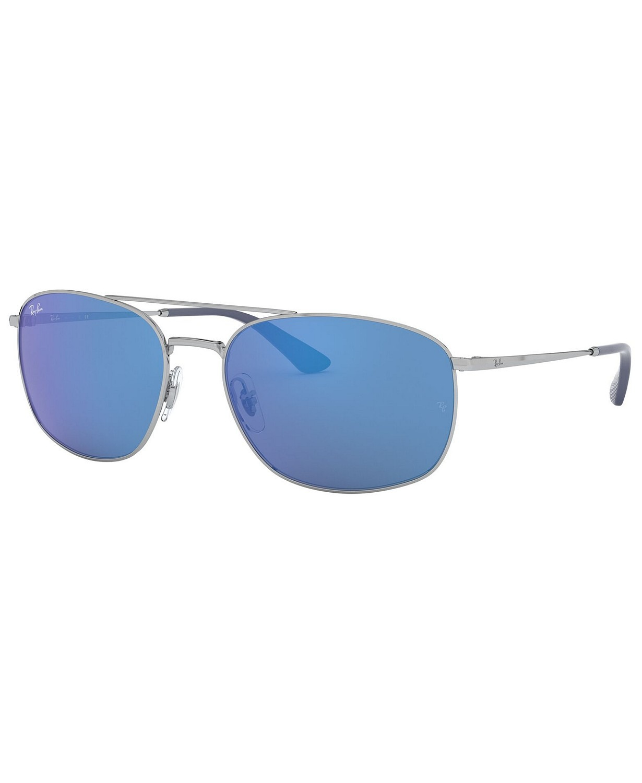 MẮT KÍNH NAM RAY-BAN SUNGLASSES, RB3654 60, SILVER/BLUE MIRROR BLUE