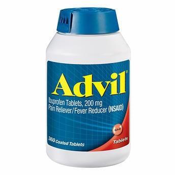 THUỐC GIẢM ĐAU HẠ SỐT ADVIL IBUPROFEN 200 MG, PAIN RELIEVER / FEVER REDUCER