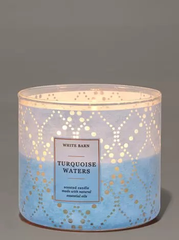 NẾN THƠM 3 BẤC BATH & BODY WORKS TURQUOISE WATERS 3-WICK CANDLE