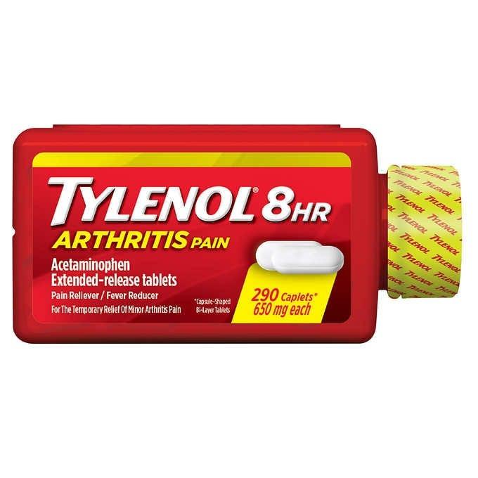THUỐC GIẢM ĐAU KHỚP 8 GIỜ TYLENOL 8 HOUR ARTHRITIS PAIN 650 MG