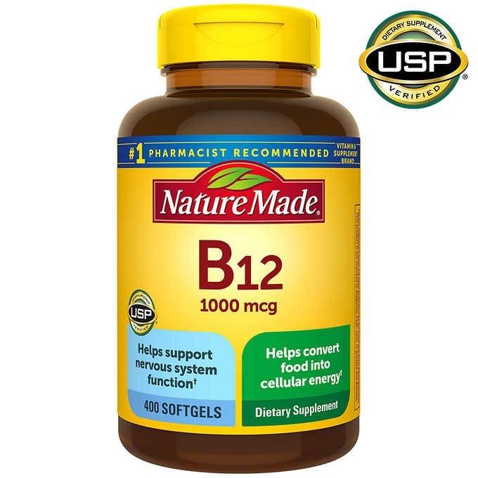 VIÊN UỐNG BỔ SUNG VITAMIN B12 NATURE MADE VITAMIN B12 1000 MCG