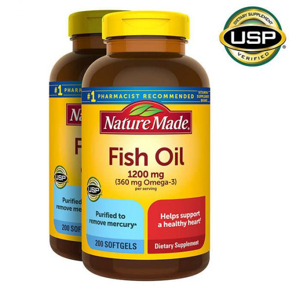 VIÊN UỐNG DẦU CÁ NATURE MADE FISH OIL 1200 MG