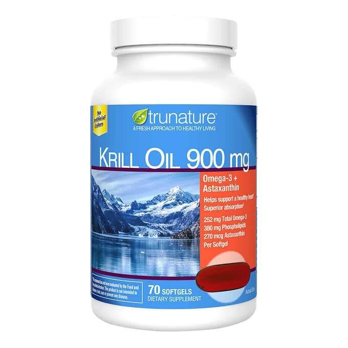 VIÊN UỐNG DẦU NHUYỄN THỂ ( DẦU TÔM ) TRUNATURE EXTRA STRENGTH KRILL OIL 900 MG